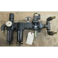Norgren Filter B74G-6AK-QD3-RMG w/ Lubricator L74M-6AP-QDN w/ Solenoid Valve P74C-NAC-SJA