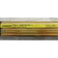 Omron Light Curtain Emitter F3SJ-A0870P30-L and Receiver F3SJ-A0870P30-D
