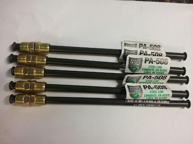 PA420 Poly-Armour Domestic PVF Steel Brake Line 1//4 x 20