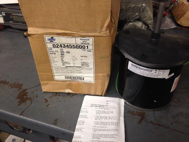 Source 1 Motor Condenser 02434550001 W/Rainshield 1/3HP (s#28-4)