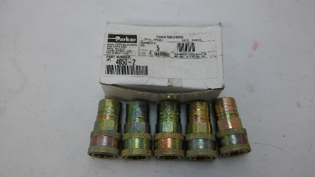PARKER 4050-2 FEMALE COUPLERS. 5 PER BOX/ORDER