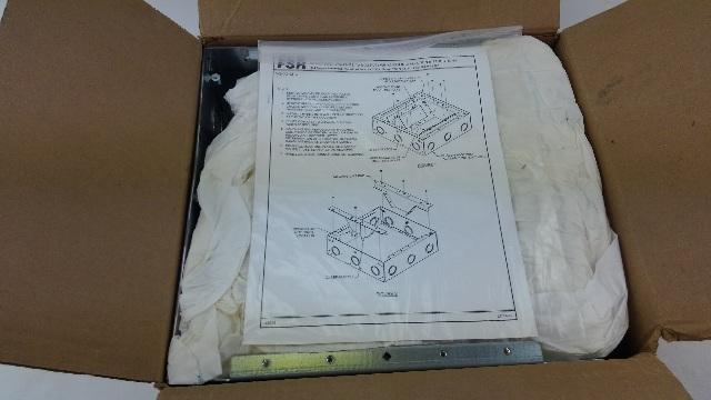 FSR WB-X2-XLR-B Back Box 3 Rows of 8 Neutrik D-1 Holes 24 Total
