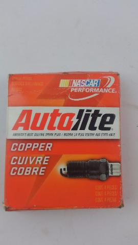 FOUR Autolite 2545 Copper Resistor Spark Plug's