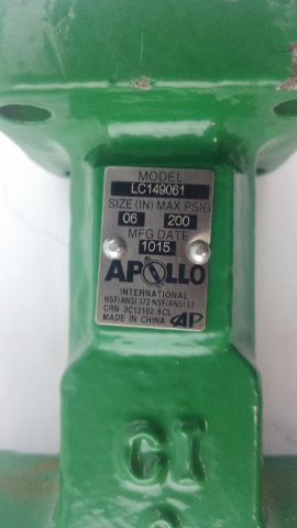 Apollo Conbraco 6 in. Cast Iron Butterfly Valve LC149061