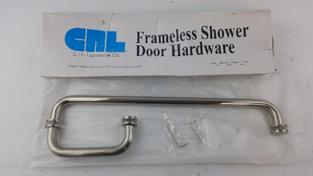 "CRL BM6X18BN BM Series 6"" Pull Handle 18"" Towel Bar Combination with Metal Washers - Brushed Nickel"