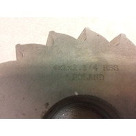 High Speed Plain Milling Cutter 4x1x1-1/4 - NEW! (S#33-2e)
