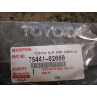 Toyota 75441-02060 Name Plate Emblem 02-04 Corolla Matrix