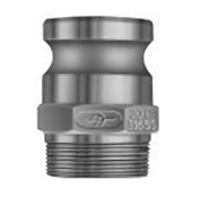 "PT 40F Aluminum 4"" Adapter x Male NPT Thread F - NEW!"