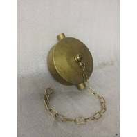 "Brass Pin Lug 3"" NPSH Cap with Chain - NEW! (34-5)"