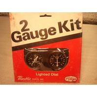 Republic Parts Inc 551-102 Two Gauge Kit Oil Pressure/Battery (s#20-2)