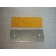 "3"" x 8"" Amber Reflector Marker (s#22-4)"