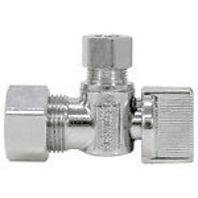 Nibco Quarter Turn Stop Valve-Lead-Free, Angle, PEX x Compression 7165