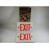 Dual Lite LXURW Thermoplastic LED Exit Sign