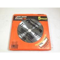 """Black & Decker 77-717 Piranha Carbide 18T Blade 7-1/4"""" Pack of 5"""