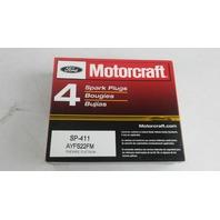 Motorcraft SP-411 Spark Plug AYFS22FM. CASE OF 4 SPARK PLUGS