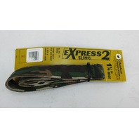 "EXPRESS SLING 2 RIFLE/SHOTGUN SLING. 1 1/4"" WIDE. 54"" LONG. CAMO"