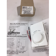 MARLEY MS26 Line Voltage Thermostat, White, Snap Action Switch, 50-80 Deg Temp (21-5)