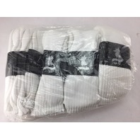 12 PAIR OF WHITE MENS SILVER FOX WOOL HIKING BOOT SOCKS 20010 SIZE 13-15