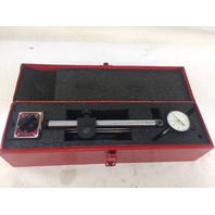 Starrett 659 Heavy-Duty Magnetic Base And Upright Post Assembly Set, With 25-131J Inch Reading Indicator, With Case