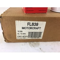 Motorcraft FL839 Oil Filter QTY OF 12