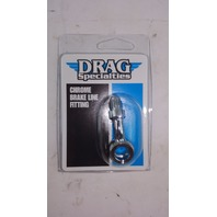 (5 PACKS) Drag Specialties 3/8 in./10mm Banjo x AN-3 Male 35 Degree - DS-098150