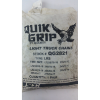 QUIK GRIP Tire Chains,Single,Bus & RV V-Bar QG2821 1 PAIR