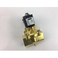 Parker 1/2 in 2 Way Solenoid Fluid Control Valve 73212BN4TNP8F8BZ04C2 (S#24-4)