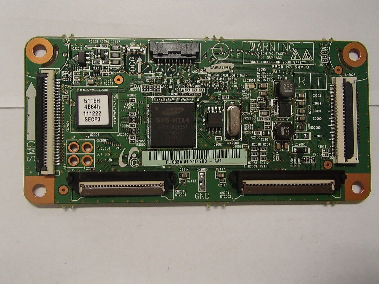 "Samsung 51/"" PN51E550 LJ92-01866A Plasma Main Logic Control Board Unit"