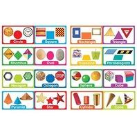 Eureka Shapes and Solids Mini Bulletin Board Sets