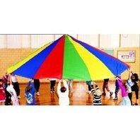 Parachute; 12 Ft. Diameter; 12 Handles; Multi-Colored; no. MASP12