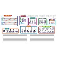 Music Symbols-Wipe-Off® Bulletin Board Set