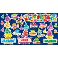 Scholastic Teacher's Friend Monsters Birthday Mini Bulletin Board, Multiple Colors (TF8086)