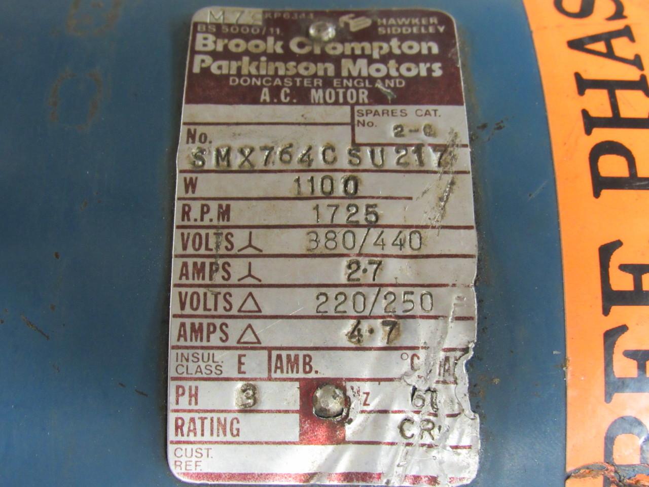 Brook crompton parkinson motors wiring diagrams class diagram parkinson motors impremedianet 128608 brook crompton smx764csu217 3 phase ac motor wye delta 1725 rpm 1 swarovskicordoba Image collections