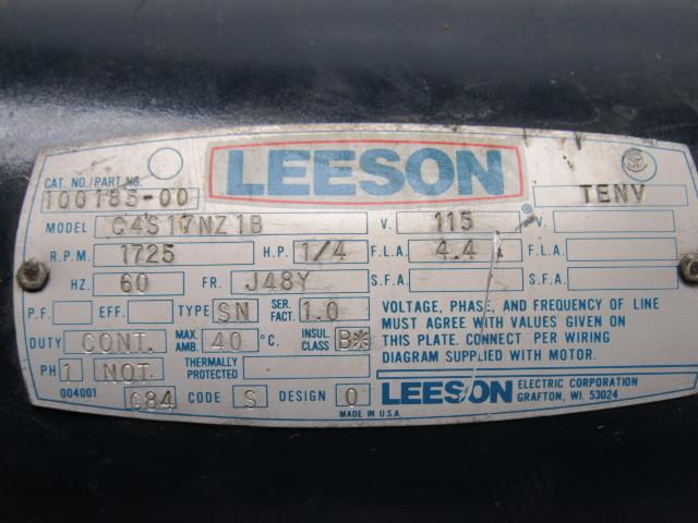 120907 leeson electric c4s17nz1b 1 3hp 1ph 115 230v 1725rpm electric motor 9 leeson electric c4s17nz1b 1 3hp 1ph 115 230v 1725rpm electric motor