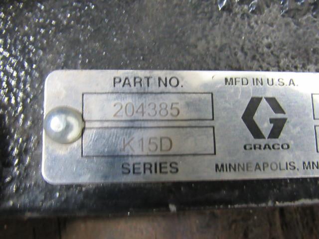 Graco 204385 Series K15d Drum Elevator W 238283 Drum Cover
