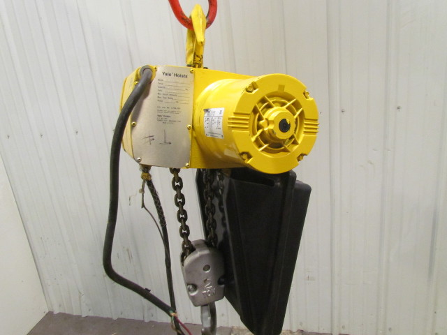 Yale KEL2-22NH71/2S2 2 Ton Electric Chain Hoist 230/460V 22'Lift 15 on