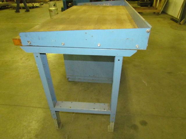 Lyon 35hx60wx30d Butcher Block Workbench 3 Drawer Parts Storage
