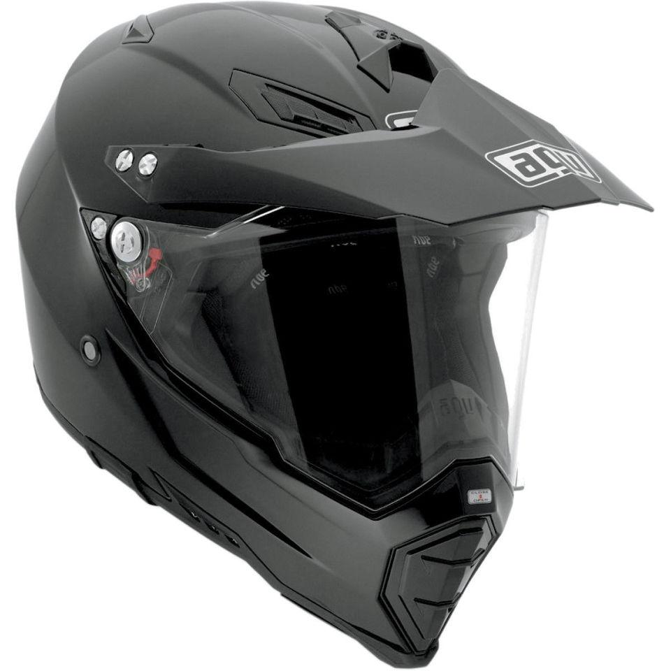 88a41bb2 AGV AX-8 Gloss Black Dual Sport Evo full face motorcycle dirt bike Racing  helmet | JT's CYCLES