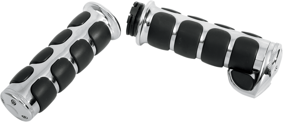 Kuryakyn Chrome ISO Palm Rest Hand Grips 08-17 Harley Touring FLHX 6228