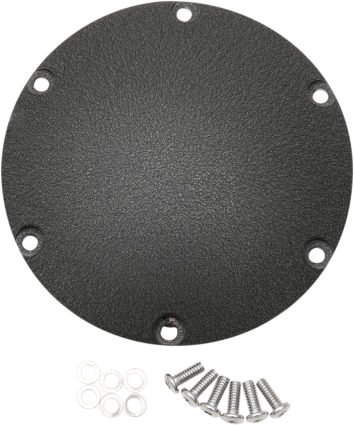 Drag Specialties 6 Hole Flat Black Derby Cover 04-18 Harley Sportster XL XL50