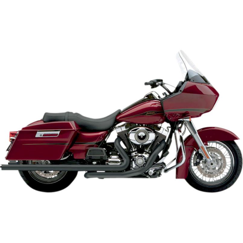 Cobra Black Speedster Duals Mufflers Motorcycle Exhaust 10-16 Harley Touring