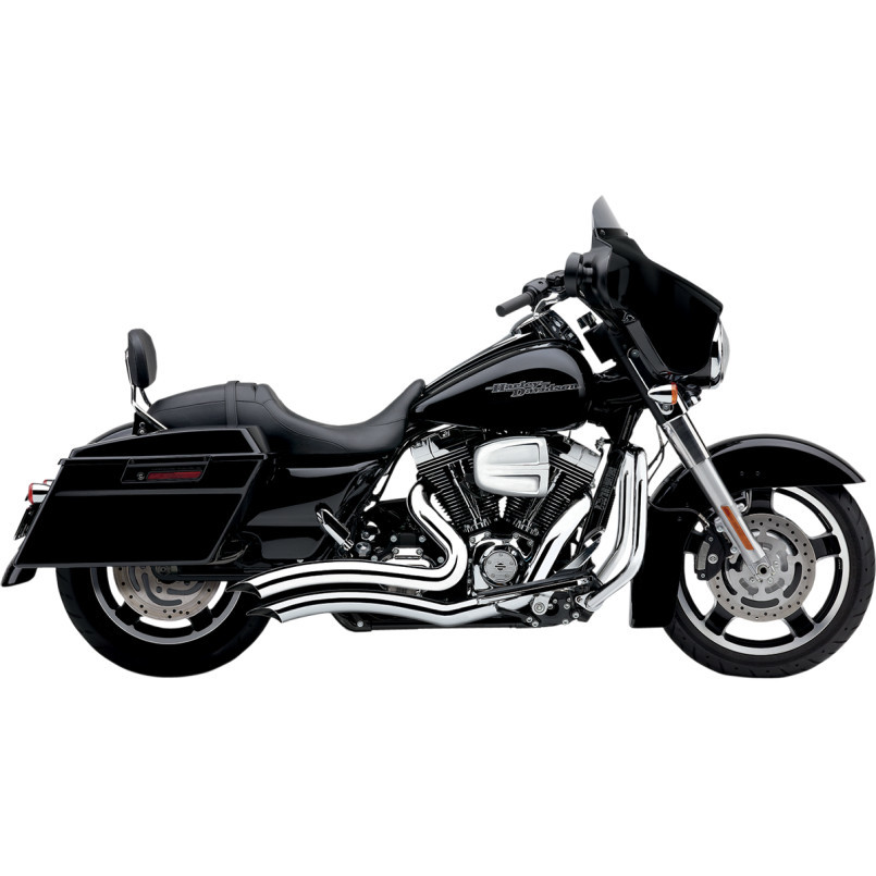 Cobra Chrome Curved Short Swept Exhaust Motorcycle Mufflers 10-16 Harley Touring