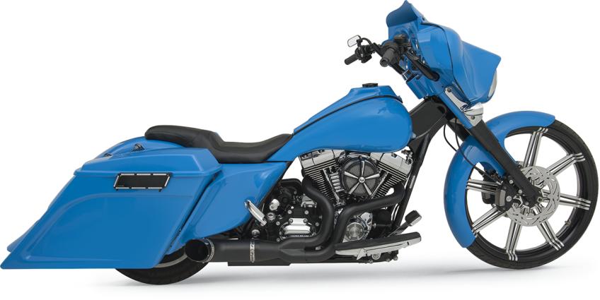 Killer Python Razyer 2 1 Black Exhaust Harley Davidson 95 07 Touing