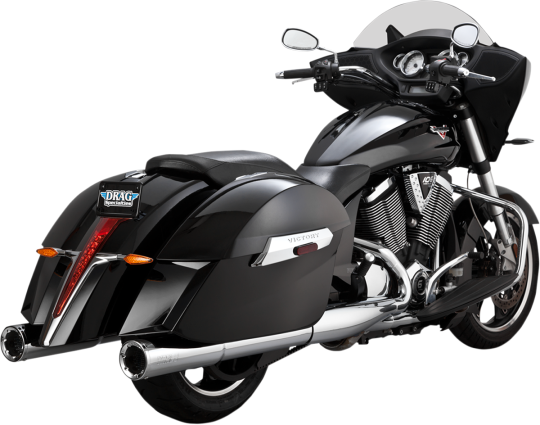 Vance & Hines Chrome Slip On Mufflers Exhaust System 10-16 Victory Motorcycles