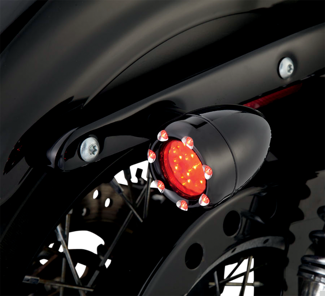 Arlen Ness 1156 Black Red Led Fire Ring Motorcycle Rear