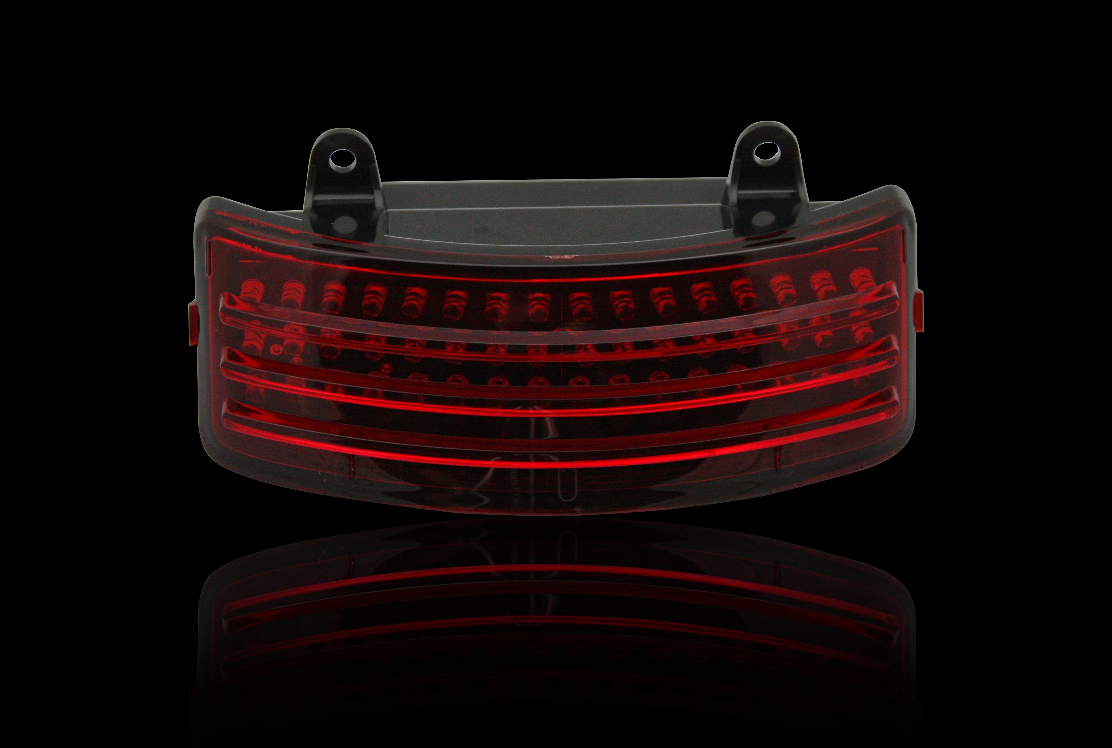 Custom Dynamics Black Tri Bar Led Rear Fender Light 14 18 Harley Touring Fltrx