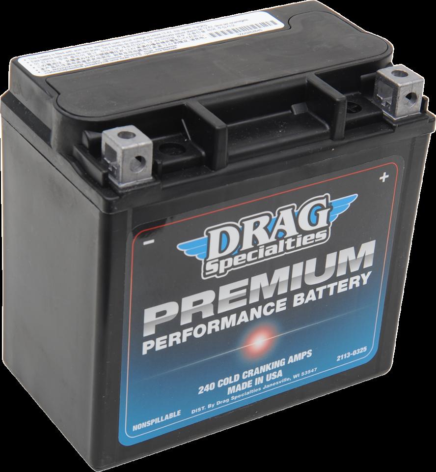 Drag Specialties 12V Premium Performance Battery  04-18 Harley Sportster XG