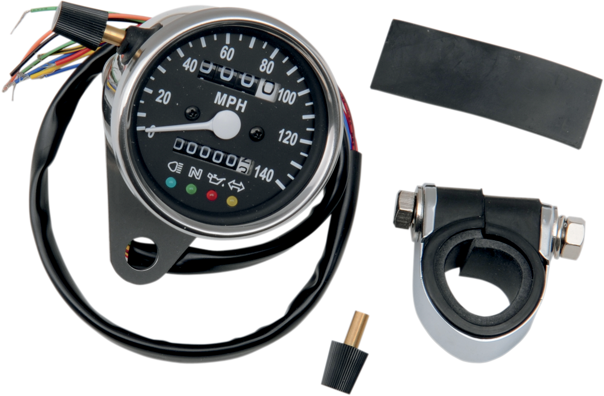 Drag Specialties 2240:60 Black Speedo Mechanical Speedometer Harley Davidson XLH