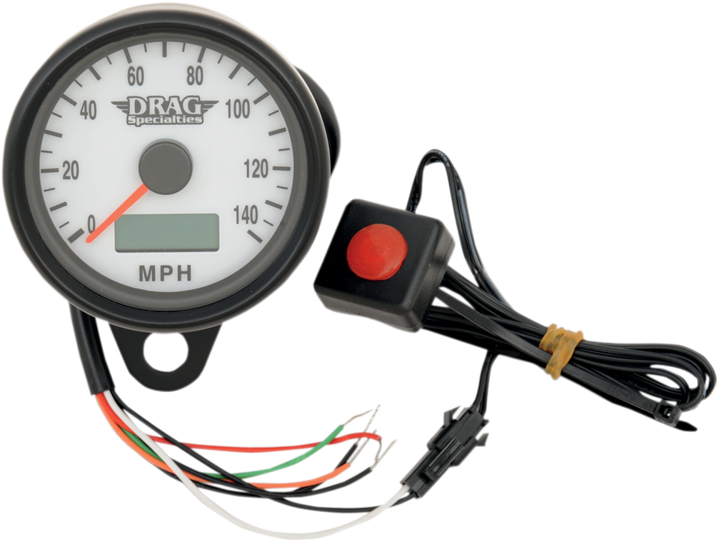 Drag Specialties Black Electronic Speedo Motorcycle Speedometer Harley
