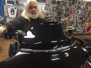 """Klock Werks Black 3.5/"""" Flare Windshield 96-13 Harley Touring Flht Flhx Flhtc"""